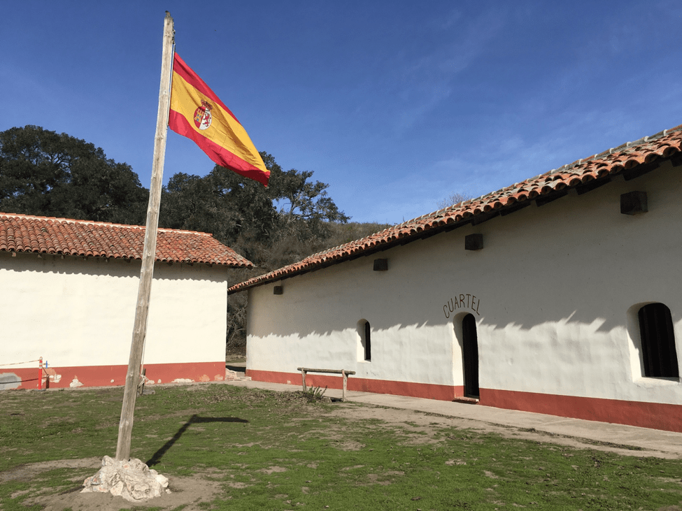 The-Spanish-flag-symbolizing-their-ownership-of-part-of-California