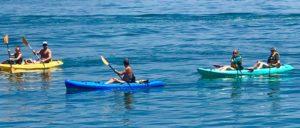 kayaking at pirates cove avila beach, ca