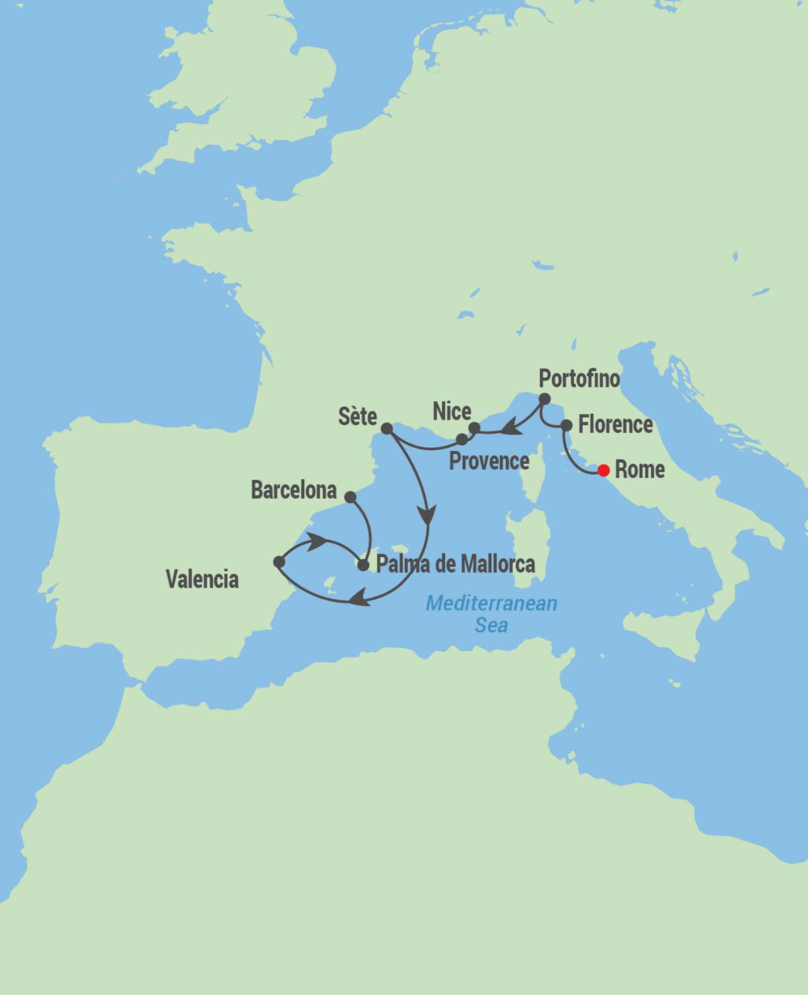map for cruise
