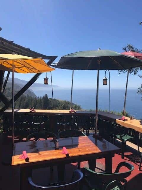 Nepenthe Restaurant Patio, Big Sur, CA